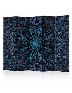 Paravent 5 volets FEATHERS BLUE II - par Artgeist