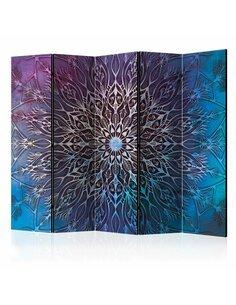 Paravent 5 volets CENTER BLUE II - par Artgeist
