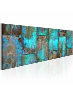 Tableau Mosaïque Métal: Bleu Multicolores Artgeist