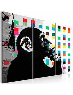 Tableau Le Singe Penseur par Banksy Art urbain Artgeist