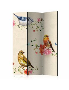 Paravent 3 volets BIRD SONG - par Artgeist