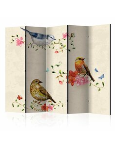 Paravent 5 volets BIRD SONG II - par Artgeist