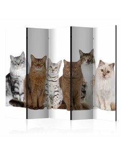Paravent 5 volets SWEET CATS II - par Artgeist