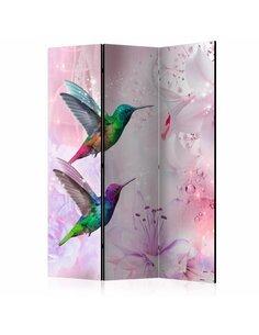 Paravent 3 volets COLOURFUL HUMMINGBIRDS - par Artgeist