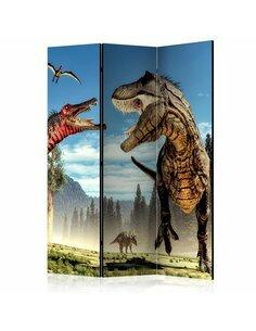 Paravent 3 volets Dinosaures lutte [Salle Intercalaires] Paravents 3 volets Artgeist