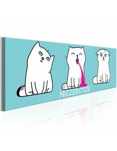 Tableau MIEZEKOTZE: CAT TRIO BLUE - par Artgeist
