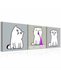 Tableau MIEZEKOTZE: CAT TRIO - par Artgeist