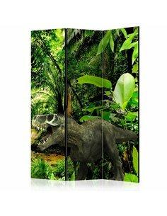Paravent 3 volets Dinosaures dans la jungle [Chambre Intercalaires] Paravents 3 volets Artgeist