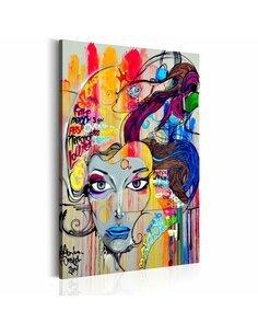 Tableau Pensées colorées Portraits Artgeist