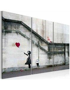 Tableau GIRL WITH A BALLOON BY BANKSY - par Artgeist