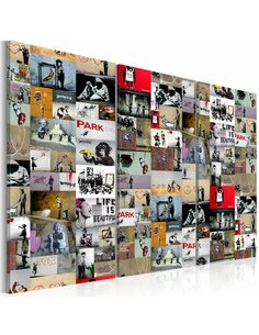Tableau ART OF COLLAGE: BANKSY III - par Artgeist