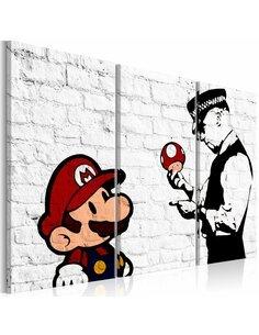 Tableau Mario Bros (Banksy) Art urbain Artgeist