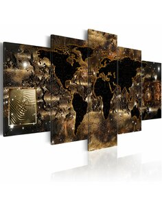 Tableau World of bronze Cartes du monde Artgeist