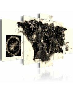 Tableau continents noirs Cartes du monde Artgeist