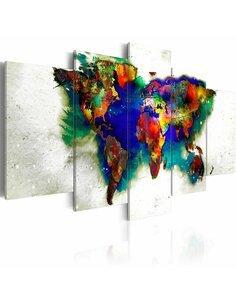 Tableau planète verte Cartes du monde Artgeist