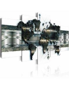 Tableau METAL WORLD MAP - par Artgeist