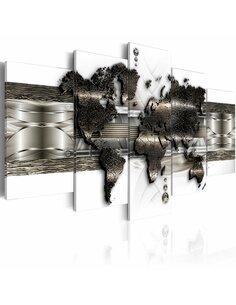 Tableau Metal World Map II Cartes du monde Artgeist