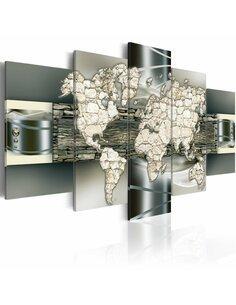 Tableau SEE THE WORLD IN STONE - Cartes du monde par Artgeist