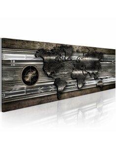Tableau métal Carte Cartes du monde Artgeist