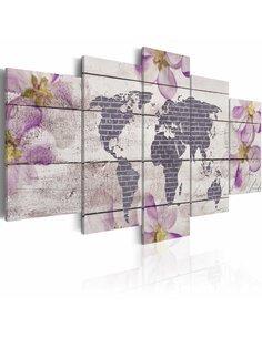 Tableau Romantique Carte du monde Cartes du monde Artgeist