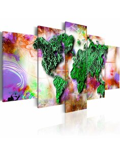 Tableau Monde original Cartes du monde Artgeist