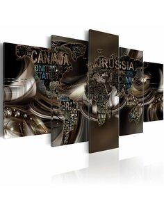 Tableau TOURBILLON DU TEMPS - Cartes du monde par Artgeist
