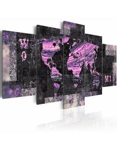 Tableau ROUTE AMETHYSTINE - Cartes du monde par Artgeist