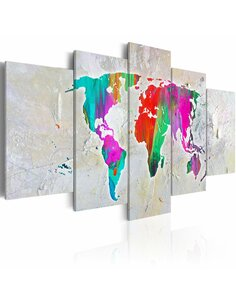 Tableau planète colorée Cartes du monde Artgeist