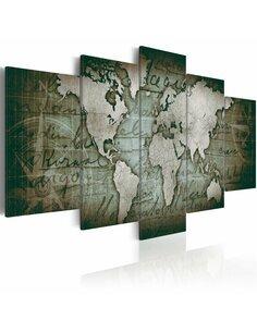 Tableau EMERALD MAP - par Artgeist