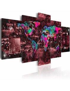 Tableau RUBY JOURNEY - Cartes du monde par Artgeist