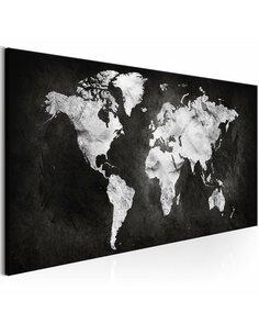 Tableau Monde Bicolore Cartes du monde Artgeist