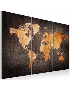 Tableau CHESTNUT WORLD MAP - par Artgeist