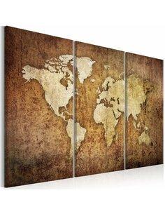 Tableau WORLD MAP: BROWN TEXTURE - par Artgeist
