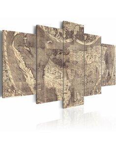 Tableau Amerigo Vespucci: Découverte du Nouveau Monde Cartes du monde Artgeist