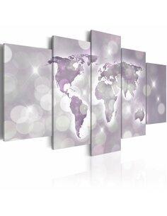 Tableau Amethyst mondiale Cartes du monde Artgeist
