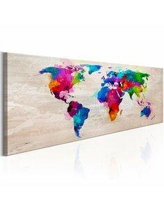 Tableau Carte du monde: Finesse des couleurs Cartes du monde Artgeist