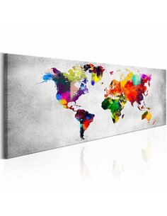 Tableau WORLD MAP: COLOURED REVOLUTION - par Artgeist