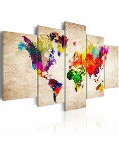 Tableau WORLD MAP: ABSTRACT FANTASY - par Artgeist