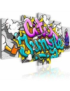 Tableau GRAFFITI: CITY JUNGLE - par Artgeist