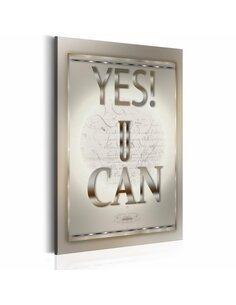 Tableau Citation motivante YES U CAN - par Artgeist