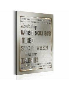 Tableau Citation motivante DON'T STOP - par Artgeist