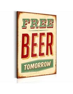 Tableau FREE BEER TOMORROW - par Artgeist