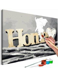 Tableau à peindre soi même HOME ON THE BRANCHES - par Artgeist