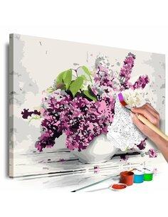 Tableau à peindre soi même VASE AND FLOWERS - par Artgeist