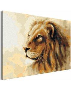 Tableau à peindre soi même LION KING - par Artgeist