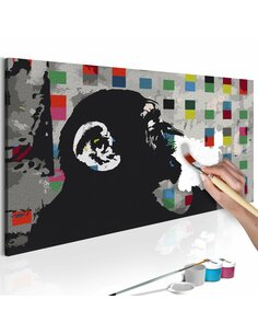 Tableau à peindre soi même THOUGHTFUL MONKEY - par Artgeist
