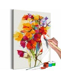 Tableau à peindre soi même SUMMER FLOWERS - par Artgeist
