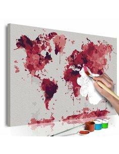 Tableau à peindre soi même WATERCOLOR MAP - par Artgeist