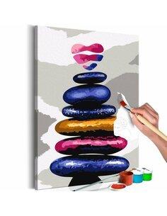 Tableau à peindre soi même COLORED PEBBLES - par Artgeist