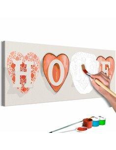 Tableau à peindre soi même FOUR HEARTS - par Artgeist